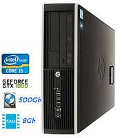 Компактный мощный игровой компьютер i5-3570/8gb-DDR3/Nvidia GTX1050/HDD-500gb