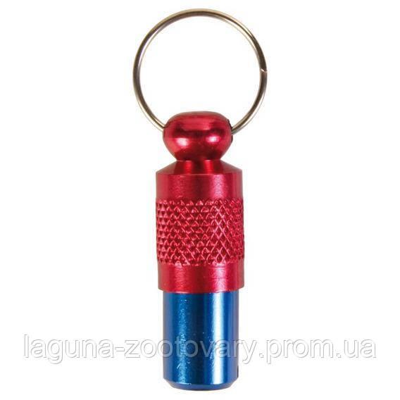 Адресовка на ошейник для  собак 3,5см /красно-синий