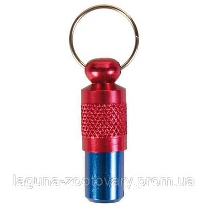 Адресовка на ошейник для  собак 3,5см /красно-синий, фото 2