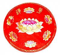 Подушка для медитации с поролоном красная (d = 50 см)
