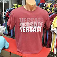 Мужская летняя футболка 2017 - Versace (бордо) - 147-29