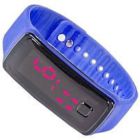 Стильные наручные часы Lesko LED синие с подсветкой электронные smart светодиодные легкие удобные качественные