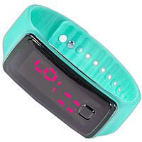 Наручные Lesko LED часы бирюзовые для активного отдыха универсальные компактные с ярким дисплеем smart
