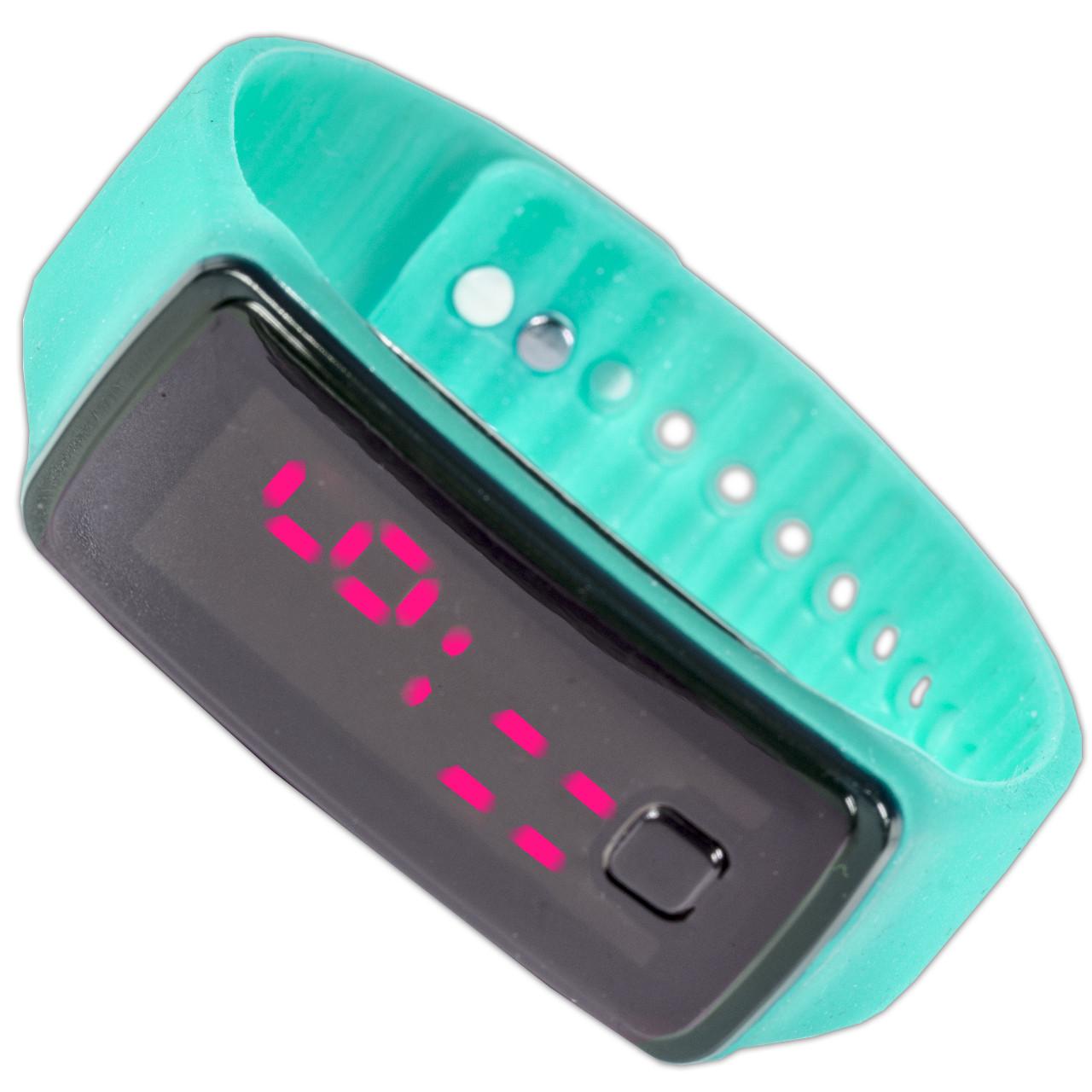 Наручные Lesko LED часы бирюзовые для активного отдыха универсальные компактные с ярким дисплеем smart - Mobiloz - інтернет магазин розумних покупок в Киеве
