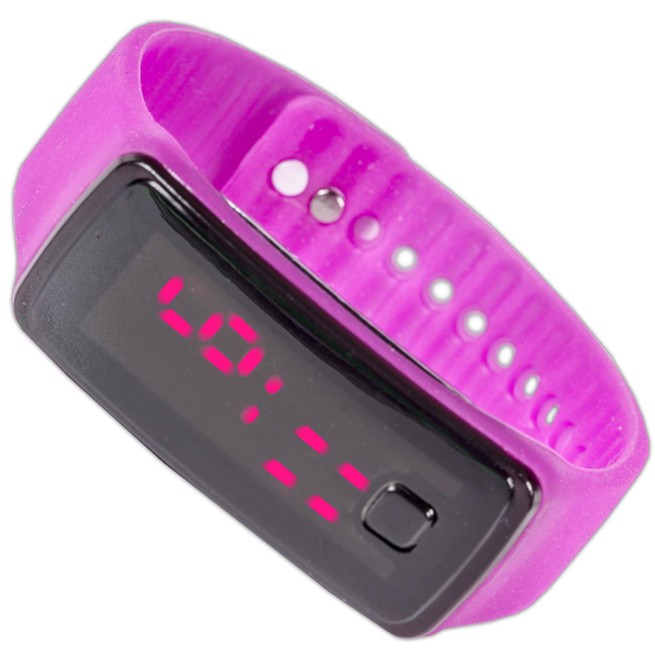 Спортивные Lesko LED часы розовые наручные для активного отдыха универсальные компактные с ярким дисплеем - Mobiloz - інтернет магазин розумних покупок в Киеве