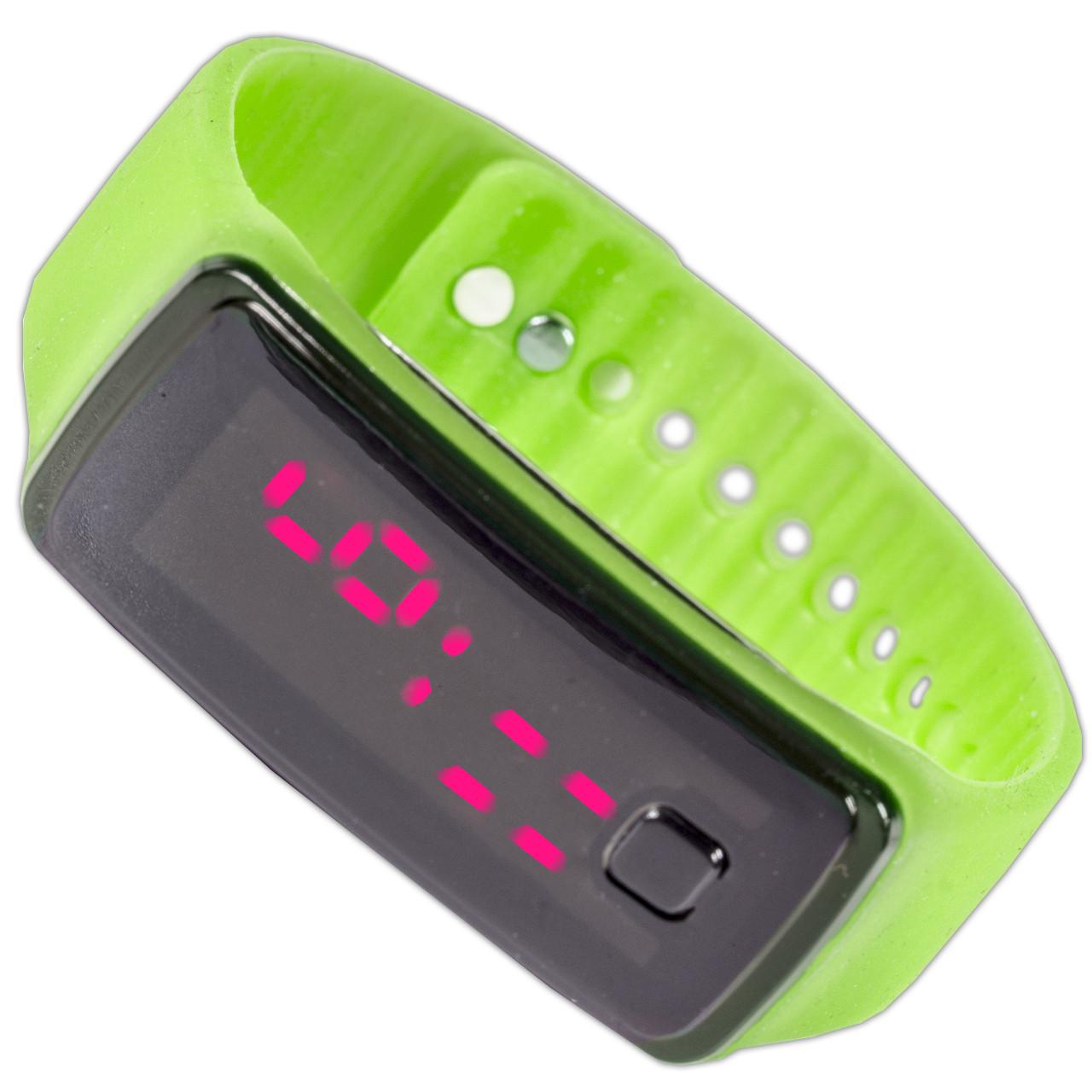 Компактные Lesko LED часы салатовые наручные для активного отдыха универсальные спортивные с ярким дисплеем - интернет-магазин Mobiloz (Мобилоз) в Киеве