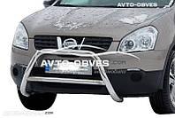 Кенгурятник Nissan Qashqai 2007-2010  п.к. RR006  Ø60*1,6мм