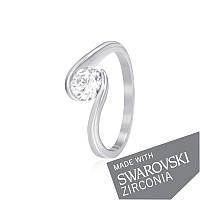 Серебряное кольцо с цирконием SWAROVSKI ZIRCONIA К2С/702 - 17,4