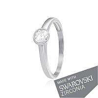 Серебряное кольцо с цирконием SWAROVSKI ZIRCONIA К2С/703 - 17,8