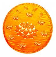 Подушка для медитации с поролоном жёлтая (d = 50 см)