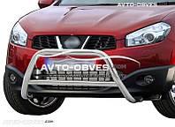 Защита переднего бампера Nissan Qashqai 2+ 2010-2014  п.к. RR006  Ø60*1,6мм