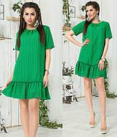 Летнее шифоновое платье 47- 218