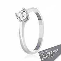 Серебряное кольцо с цирконием SWAROVSKI ZIRCONIA К2С/716 - 15,5