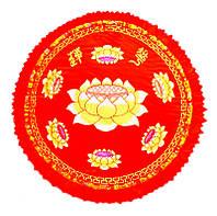 Подушка для медитации с поролоном красная (d = 60 см)