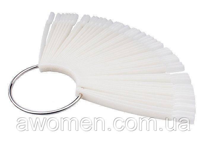 Палитра кольцо (типсы 50 штук) белый пластик