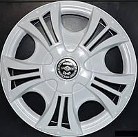 Колпаки на колеса диски для дисков R13 белые Бумер колпак
