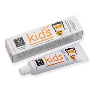Детская зубная паста от компании Apivita изготовлена с учетом особенностей эмали молочных зубов