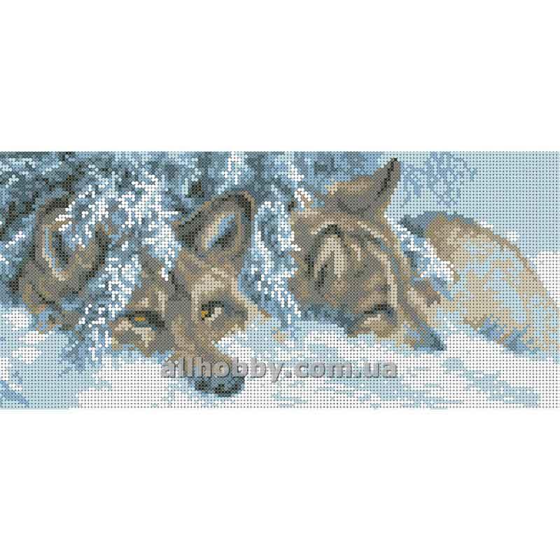 Схема для вышивания бисером Волки БИС3-92 (А3)