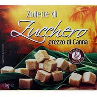 Cахар коричневый не очищеный Zucchero, 1 кг Demerara