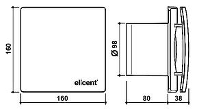 Вентилятор для ванной Elicent ELEGANCE 100 MHY SMART, фото 3
