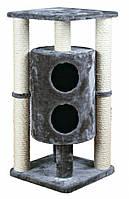 Когтеточка Trixie Vigo Scratching Post для кошек с домиком, 45х45х94 см