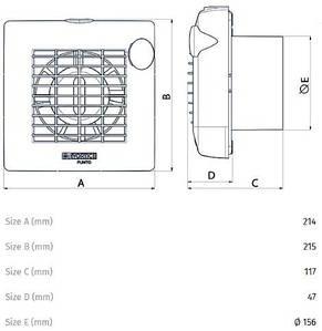 """Вентилятор для ванної Vortice M 150/6"""" PIR LL, фото 3"""