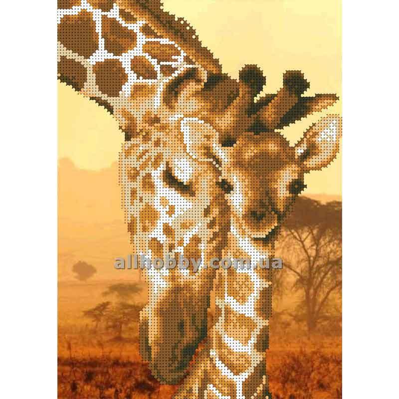 Схема для вышивания бисером Жирафы БИС4-14 (А4)