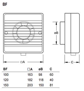 Вентилятор для ванної Systemair BF 120T, фото 2