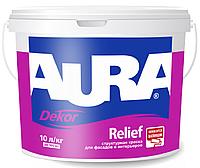 Краска моделируемая AURA DEKOR RELIEF фасадная, 9л