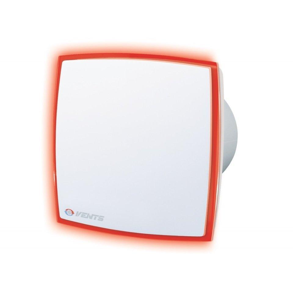 Вентилятор для ванной Вентс 100 ЛД Лайт Т красный