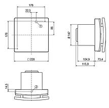 Вентилятор для ванной Maico ECA 150 ipro VZC, фото 3