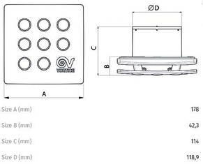 "Вентилятор для ванной Vortice MFO 120/5"" T, фото 3"