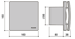 Вентилятор для ванной Maico AWB 100 S, фото 2