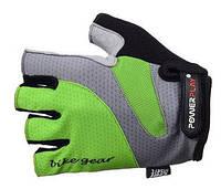 Перчатки для фитнеса с гелевыми вставками Power Play (зеленый)