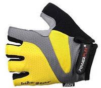 Перчатки для фитнеса с гелевыми вставками Power Play (желтый)