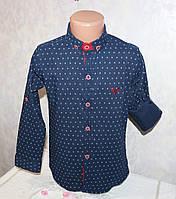 Стильная рубашка на мальчика 5-6,6-7,7-8,8-9,9-10 лет