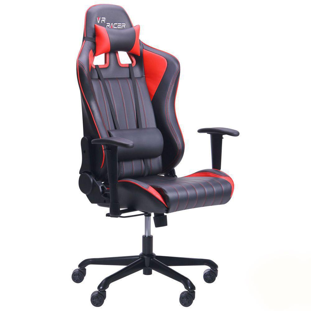Геймерское кресло VR Racer Shepard черный/красный, TM AMF