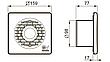 "Вентилятор для ванной Vortice MF 100/4"" T HCS, фото 3"