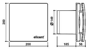 Вентилятор для ванной Elicent ELEGANCE 150 PULL CORD, фото 3