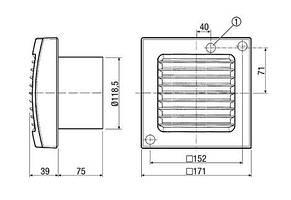 Вентилятор для ванної Maico ECA 120 KP, фото 2