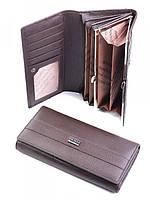 Красивый женский кошелек из кожи кофейный A0001-H