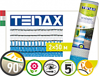 Сетка затеняющая 90% Soleado Италия 2х50м бело-голубая Tenax