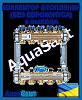 Коллектор латунный отопления (без евроконуса), 4 выхода