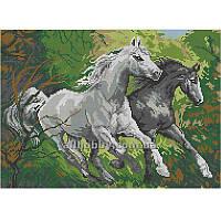 Схема для вышивания бисером Лошади в лесу БИС3-12 (А3)
