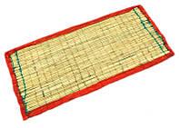 "Циновка для медитации из травы Куша ""Kusha Asan"" с бордовым кантом (63х38х1 см)"