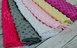 Набор отрезов плюша минки: сиреневый, кремовый, светло-розовый, белый, темно-серый, малиновый(18*30), фото 3