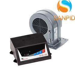 Блок керування котлом KG Elektronic SP-05 LED і вентилятор DP-02