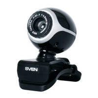 Веб-камера SVEN IC-300web Black, 1.3Mp dinamic/0.35Mp CMOS, USB, микрофон