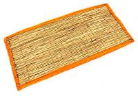 "Циновка для медитации из травы Куша ""Kusha Asan"" с оранжевым кантом (63х38х1 см)"