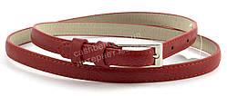 Женский тонкий ремешок с искусственной кожи красного цвета (100468)